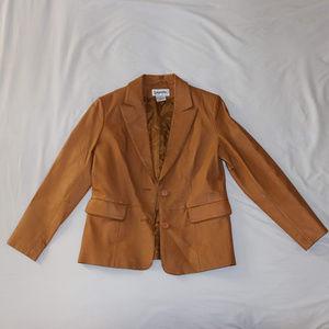 Bagatelle Genuine Leather Jacket - Tan Brown